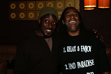 Nii Ayikwei Parkes with Eric Jerome Dickey